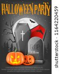 poster for halloween party... | Shutterstock .eps vector #1164220459