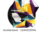 vector 3d triangle abstract... | Shutterstock .eps vector #1164223546