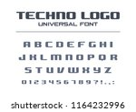 technology bold font. geometric ... | Shutterstock .eps vector #1164232996