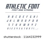 athletic fast and strong... | Shutterstock .eps vector #1164232999