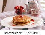 almond pancakes   Shutterstock . vector #116423413