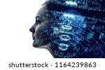 digital binary code concept. | Shutterstock . vector #1164239863