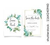 wedding card desing | Shutterstock .eps vector #1164240940