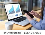 man business analytics and... | Shutterstock . vector #1164247039