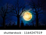 halloween background concept... | Shutterstock .eps vector #1164247519