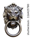 Old Style Lion\'s Head Knocker...