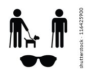 blind man icons set   with... | Shutterstock .eps vector #116425900