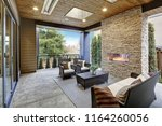luxury modern deck exterior... | Shutterstock . vector #1164260056