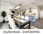 beautiful kitchen in luxury... | Shutterstock . vector #1164260446