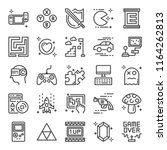 video game pixel perfect icons  ... | Shutterstock .eps vector #1164262813