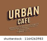 vector stylish logo urban cafe. ... | Shutterstock .eps vector #1164263983