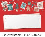 christmas decorative card ... | Shutterstock .eps vector #1164268369