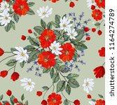 seamless pattern with flowers... | Shutterstock . vector #1164274789