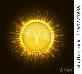 aries sign. horoscope symbol...   Shutterstock .eps vector #1164274936
