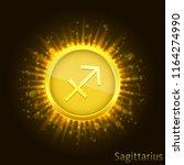 sagittarius sign. horoscope...   Shutterstock .eps vector #1164274990