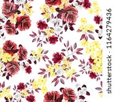 seamless pattern with flowers... | Shutterstock . vector #1164279436