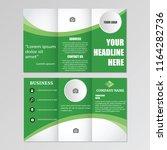 tri fold brochure design blur...   Shutterstock .eps vector #1164282736