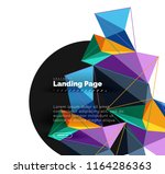 polygonal geometric design ... | Shutterstock .eps vector #1164286363