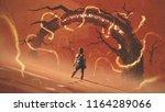 adventure scene showing the... | Shutterstock . vector #1164289066