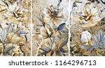 collection of designer oil... | Shutterstock . vector #1164296713