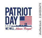 9.11 patriot day with usa flag... | Shutterstock .eps vector #1164303673