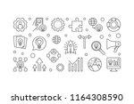 business incubator outline... | Shutterstock .eps vector #1164308590