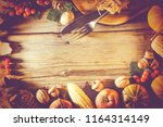 frame thanksgiving.... | Shutterstock . vector #1164314149