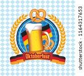 oktoberfest background vector... | Shutterstock .eps vector #1164317653