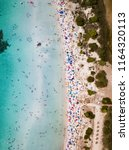aerial view of a white beach... | Shutterstock . vector #1164320113