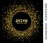 new year 2019 gold card... | Shutterstock .eps vector #1164321430