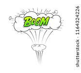 comic collection word boom ... | Shutterstock . vector #1164324226