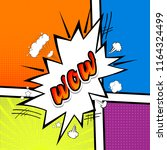 comic collection  word wow ... | Shutterstock . vector #1164324499