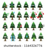 tree icon set cute trees vector ... | Shutterstock .eps vector #1164326776