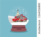 snow globe with small town and... | Shutterstock .eps vector #1164326800