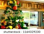 luxury interior of restaurant...   Shutterstock . vector #1164329230