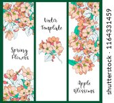 vector template with apple tree ... | Shutterstock .eps vector #1164331459