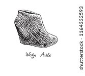 wedge ankle boots  isolated... | Shutterstock .eps vector #1164332593