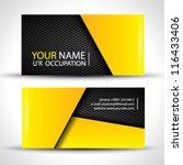 modern business card   yellow... | Shutterstock .eps vector #116433406