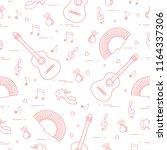 seamless pattern with fan ... | Shutterstock .eps vector #1164337306