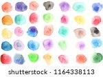 watercolor  watercolour texture ... | Shutterstock . vector #1164338113