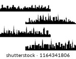 set of silhouette tall building....   Shutterstock .eps vector #1164341806