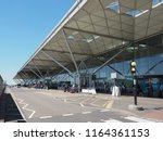 stansted  uk   circa june 2018  ... | Shutterstock . vector #1164361153