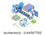 bitcoin technology with... | Shutterstock .eps vector #1164367783