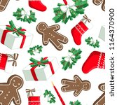 christmas illustration pattern... | Shutterstock . vector #1164370900
