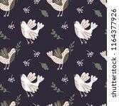 seamless pattern with birds ... | Shutterstock .eps vector #1164377926