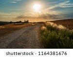 way to capella vitaleta  val d... | Shutterstock . vector #1164381676