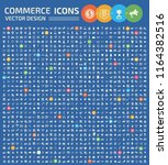 commerce vector icon set | Shutterstock .eps vector #1164382516