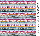 pattern with ethnic ornament... | Shutterstock . vector #1164386056