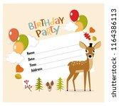 vector invitation for a... | Shutterstock .eps vector #1164386113
