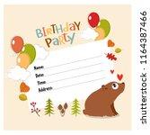 vector invitation for a... | Shutterstock .eps vector #1164387466
